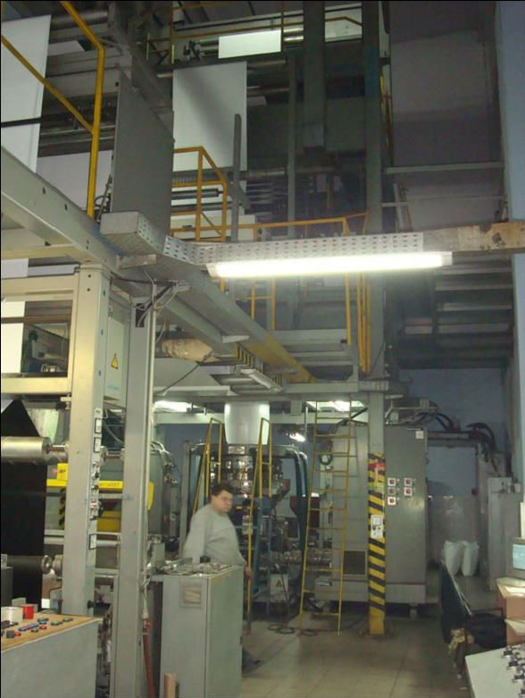 BARMAG BF 5 BLOWN FILM EXTRUSION LINE
