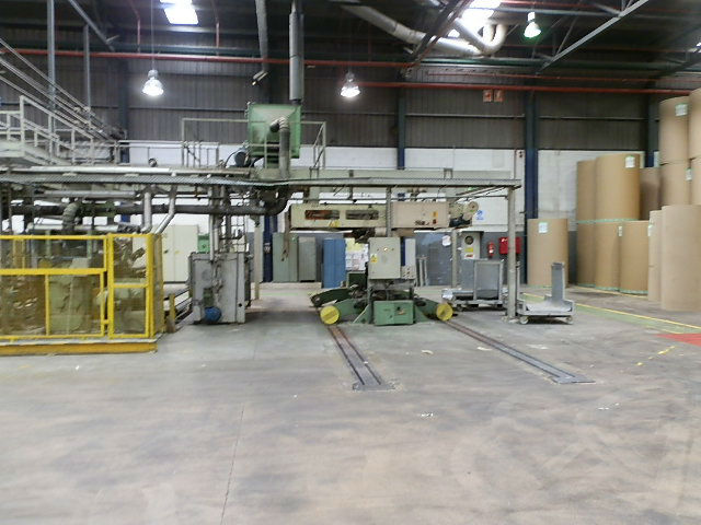 Medessa 2200mm E and B flute single face production line. CMC Ref 9738