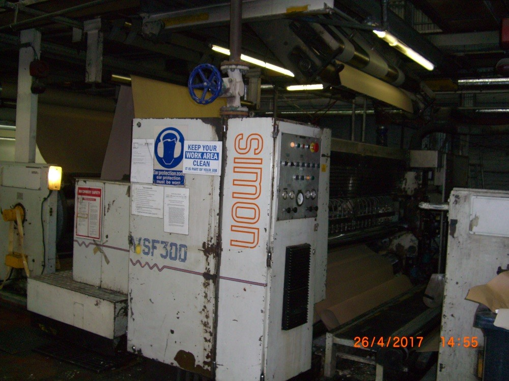 Simon 300 VSF – 2500 mm C Flute Single Facer. Ref 10051