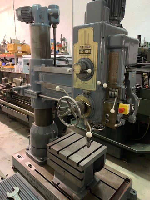 KITCHEN & WALKER E-2, 4 FOOT RADIAL ARM DRILL