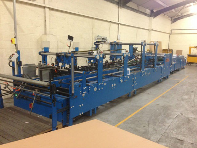 Andrew + Suter Supernova 1700mm multipoint speciality gluer. CMC Ref 9772