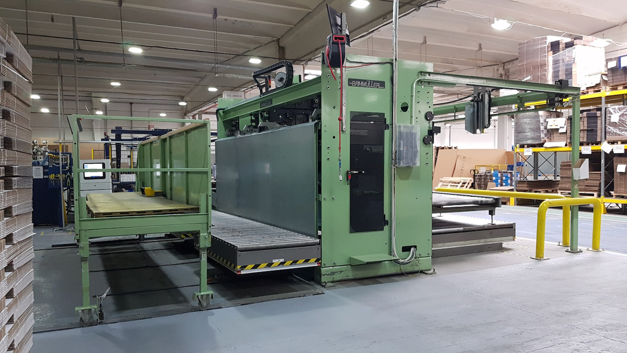BAHMÜLLER MDM 25/36 DOUBLE HEADS S.A. STITCHING AND GLUEING MACHINE