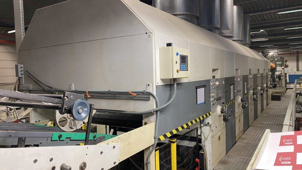 BOBST FLEXO 160 WITH 6 PRINTING UNIST ASPIRATED SECTIONS
