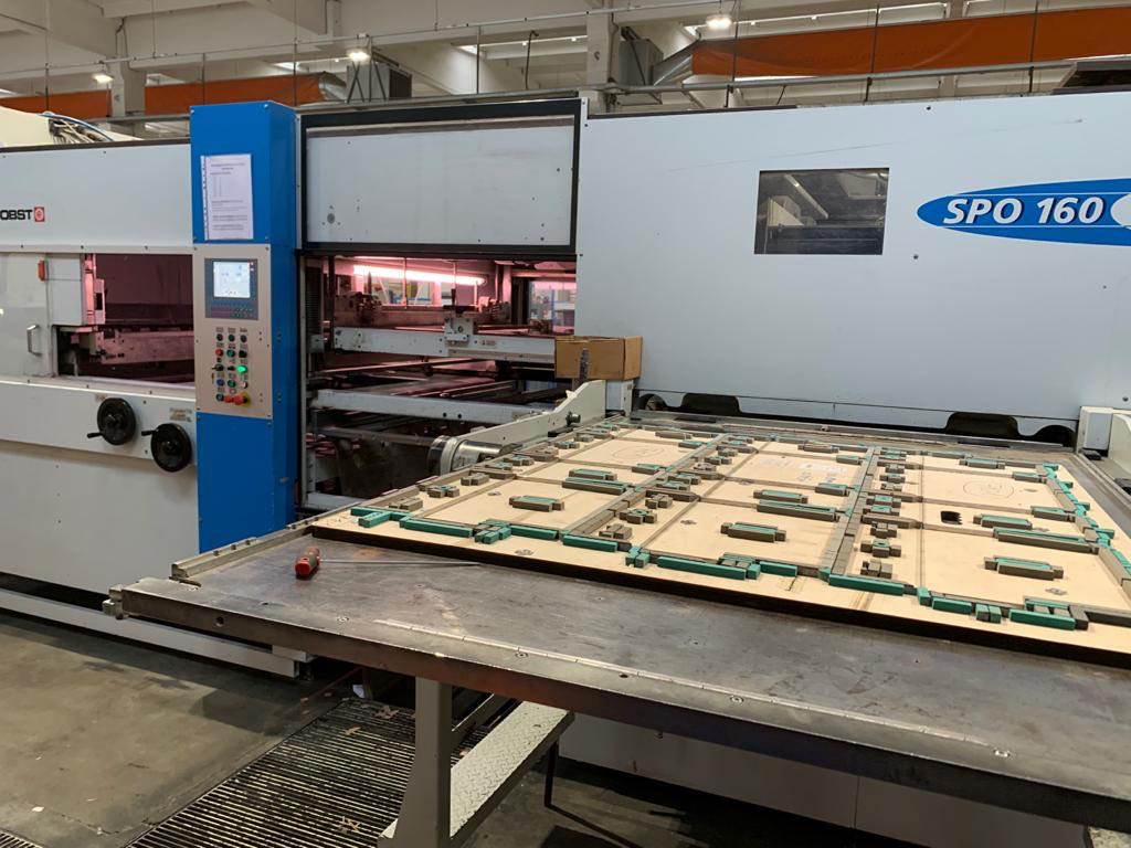 BOBST SPO 160 VISIONE FLATBED DIE-CUTTING
