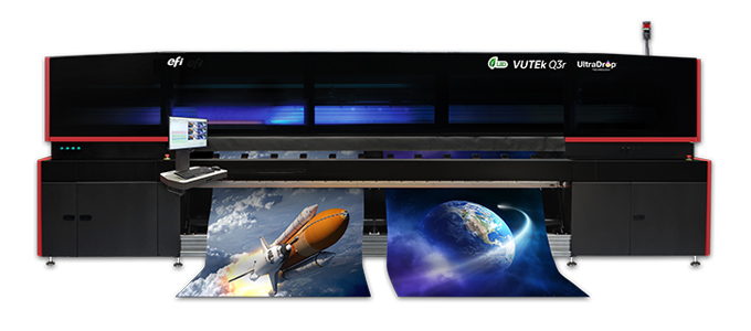 VUTEk Q3r roll-to-roll LED printer