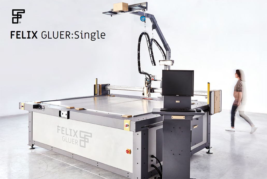 FELIX GLUER : Single – Glue plotter –  XY gluing table